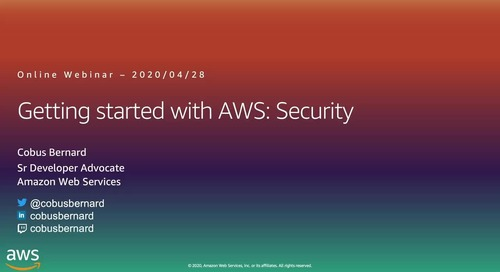 Getting Started on AWS Security Webinar