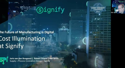 Cost Illumination at Signify | Cost Insight Conference 2020 Signify Case Study