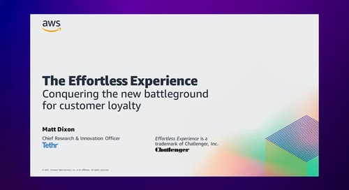 AWS Contact Center Day 2021  - The Effortless Experience