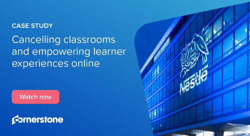 How Nestlé cancelled classrooms and empowered learner experiences online