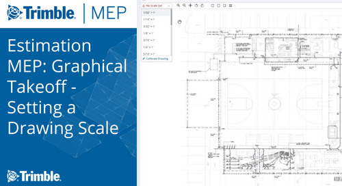 Estimation MEP: Graphical Takeoff - Setting a Drawing Scale