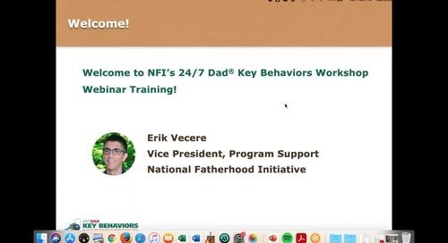 24:7 Dad® Key Behaviors Workshop Training - September 21, 2021