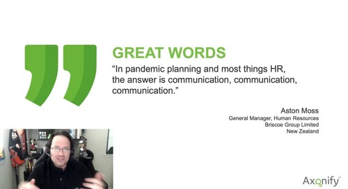 Aston Moss from Briscoe Group on Communication