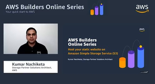 Host your static website on Amazon Simple Storage Service (S3)