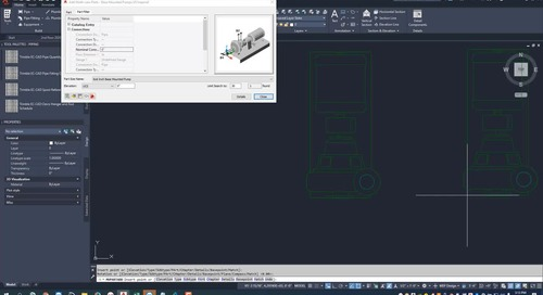 EC-CAD Pipe Training Exercise Part 19: Parametric Parts Wizard and Placing Equipment