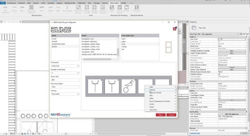 JUNG Switch Range Configurator App (16x9)