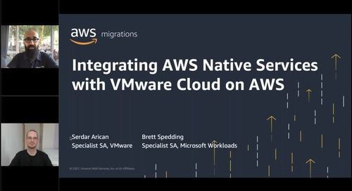 Integrate AWS native services with VMware Cloud on AWS