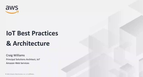 IoT Best Practices and Architecture_AWS