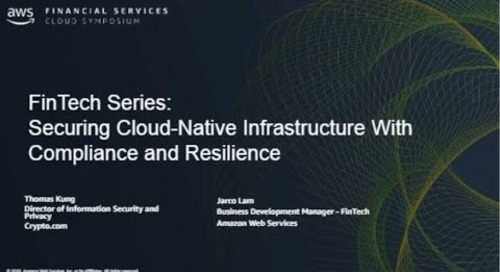 Cloud Native Infrastructure With Compliance and Resilience