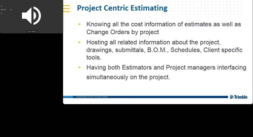 [Electrical Contractor - Webinar Recording] Take Your Electrical Estimating Workflows to the Cloud w