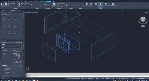 EC-CAD Sheet Metal Training Exercise Part 7: Adding Taps to Ductwork