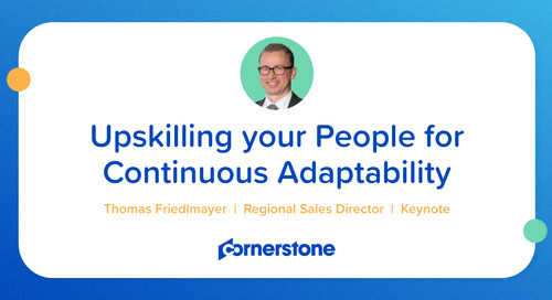 Upskilling your People for Continuous Adaptivity DE