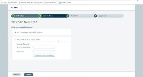 Registering Your ALEKS Account