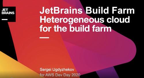 26.05   13:00-14:00   JetBrains: Гетерогенное облако для билд-фермы
