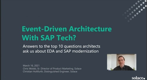 Webinar: Event-Driven Architecture Using SAP Tech