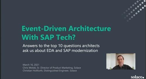 Webinar: Event-Driven Architecture Using SAP Tech