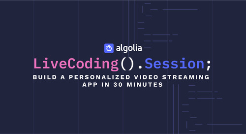LiveCoding Session - Build a personalized video streaming app in 30 minutes