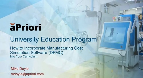 University Education Webinar - aPriori