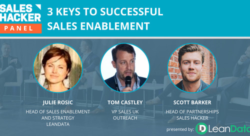 3 Keys to Successful Sales Enablement