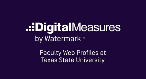 Faculty Web Profiles at Texas State University