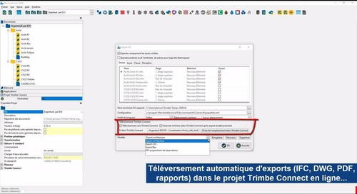 Trimble Nova V16.0 - Connexion de projets avec Trimble Connect