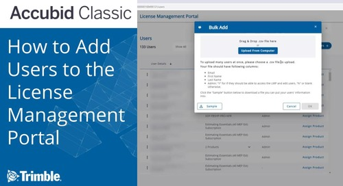 Accubid: How to Add Users to the License Management Portal