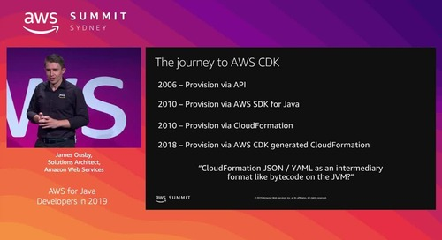 AWS for Java Developers in 2019