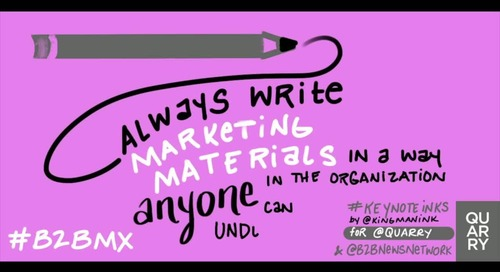 A tip to keep in mind when developing #marketing materials (@jeannieymullen via @azeckman). #B2BMX #KeyNoteInks