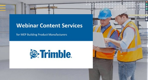 Webinar Content Services for MEP Building Product Manufacturers