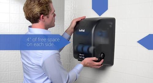 SofPull® Mechanical Paper Towel Dispenser installation instructions