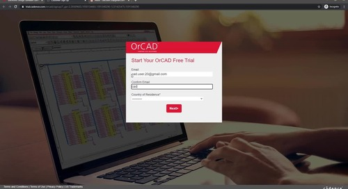 Request and Register for the OrCAD Free Trial