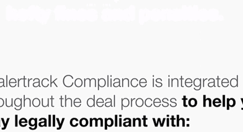 Dealertrack F&I Compliance