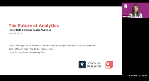 The Future of Analytics with Ventana Research | Faster Data Demands Faster Analytics