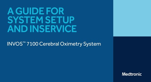 INVOS™ 7100 Cerebral Somatic Oximeter System Setup and Inservice Guide