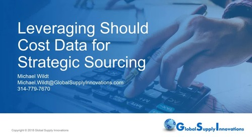 Leveraging Should Cost Data for Strategic Sourcing - with Q&A