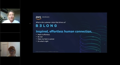AWS Data and Analytics Virtual Series_ Belong connects the business with the customer through data