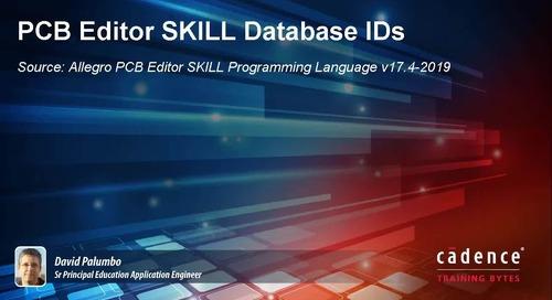 PCB Editor SKILL Database IDs