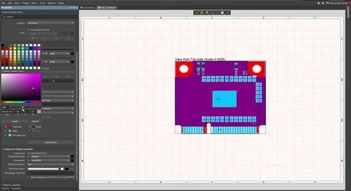 如何在Draftsman文档的装配视图上显示电路板的拓扑结构