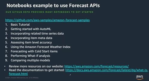 AWS AI and ML Webinar- Build Forecasting and Recommendation Models