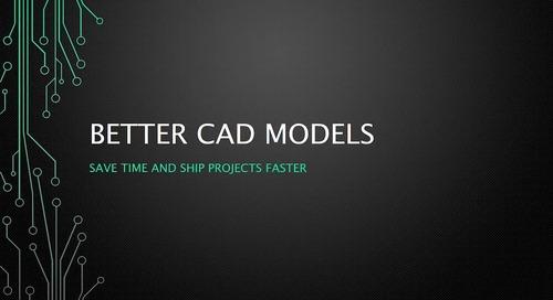 Webinar: Better CAD Models