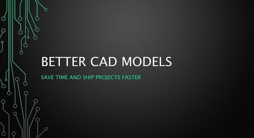 Webinar: Better CAD Models