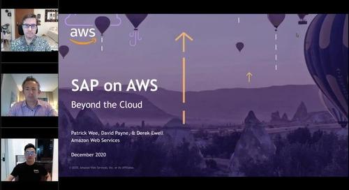 Beyond the Cloud – SAP on AWS