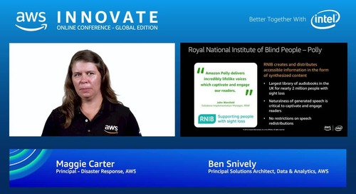 Artificial intelligence for good - AWS Innovate