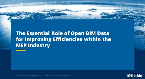 The essential role of Open BIM data for improving efficiencies