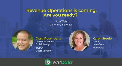 Revenue Operations is coming. Are you ready?