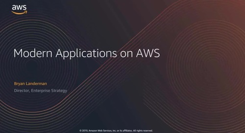 Building Modern Applications at AWS