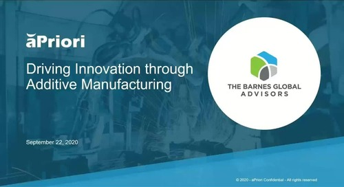 Driving Innovation with Additive Manufacturing