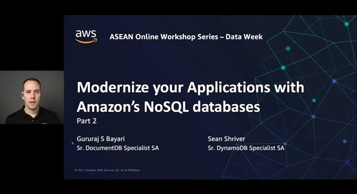 Modernize your app data layer with Amazon DynamoDB