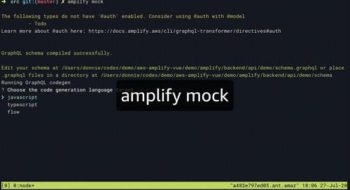 Amplify demo pt 3 - Mock