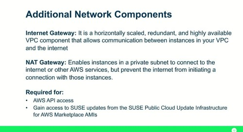 SUSE Webinar - Best Practices for High Availability Architecture with SUSE for SAP on AWS